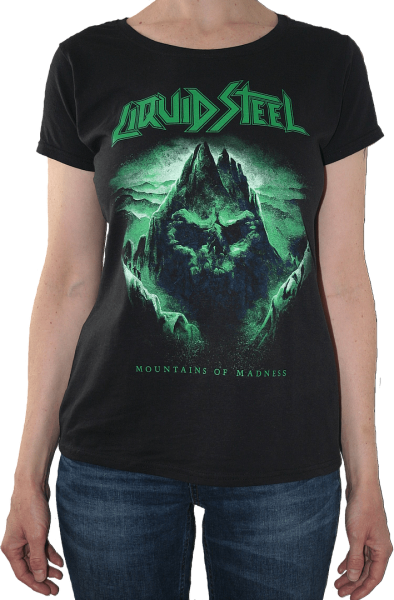 """Girlie shirt """"Mountains Of Madness"""" black - Front"""