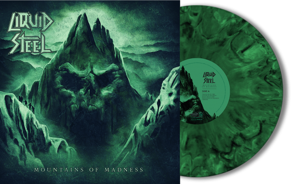 """Vinyl """"Mountains Of Madness"""" limited green/black-marbled edition Front"""